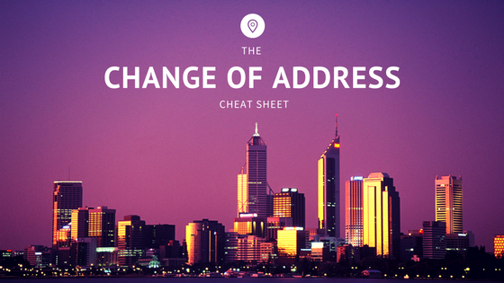 Changing Address - The Property Buyers Guide by Simply Altruism_Change of Address Cheat Sheet. Helping you with everything moving related including the best change of address checklist