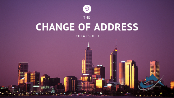 Changing Address - The Property Buyers Guide by Simply Altruism - Change of Address Cheat Sheet. Helping you with everything moving related including the best change of address checklist