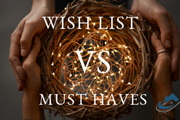 The Property Buyers Guide by Simply Altruism - My Wish List vs Absolute Must Haves Form. An easy solution to help figure out your must haves when looking and buying real estate or property.